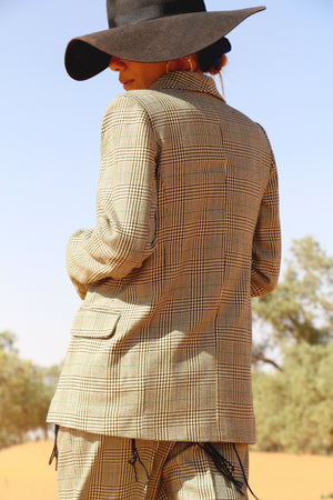 Iken Checked Wool Blazer