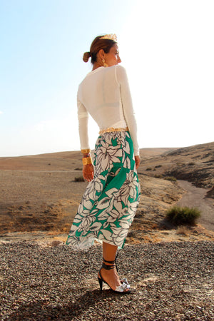 Assigna Stretch-Jersey Midi Skirt