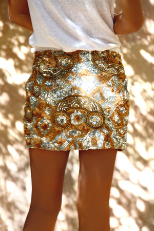 Thafsilt Sequinned Mini Skirt
