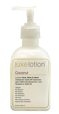 LUXE LOTION HYALURONIC ACID LUXURIOUS FACE, NECK & HAND MOISTURIZER - 8.5 OZ COCONUT (853070003323)