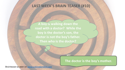 A boy is walking down the road with a doctor?  While the boy is the doctor's son, the doctor is not the boy's father.  Then who is the doctor?