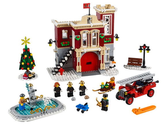 Winter Village Fire Station - Puzzlicious.com