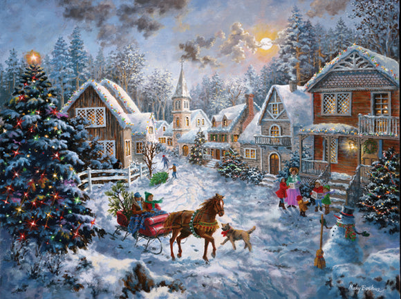 Merry Christmas 1000 Piece Puzzle - Quick Ship - Puzzlicious.com