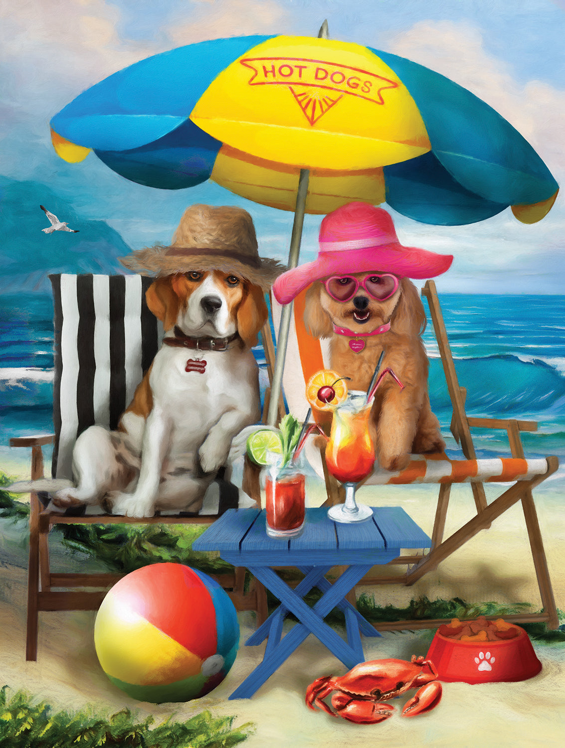 Beach Dogs 300 Piece Puzzle - Quick Ship - Puzzlicious.com