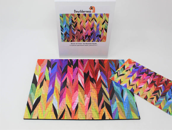 Burst of Color Wooden Jigsaw Puzzle - 173 Pieces - Quick Ship - Puzzlicious.com
