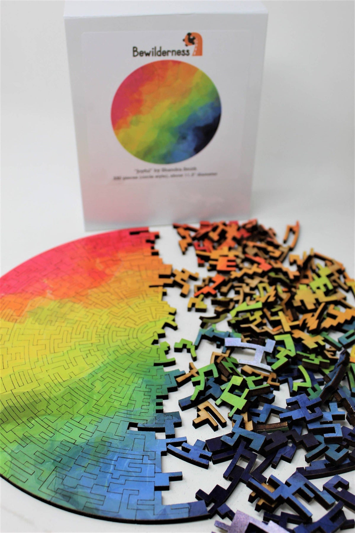 Joyful Circular Wooden Jigsaw Puzzle - 330 Pieces - Quick Ship - Puzzlicious.com