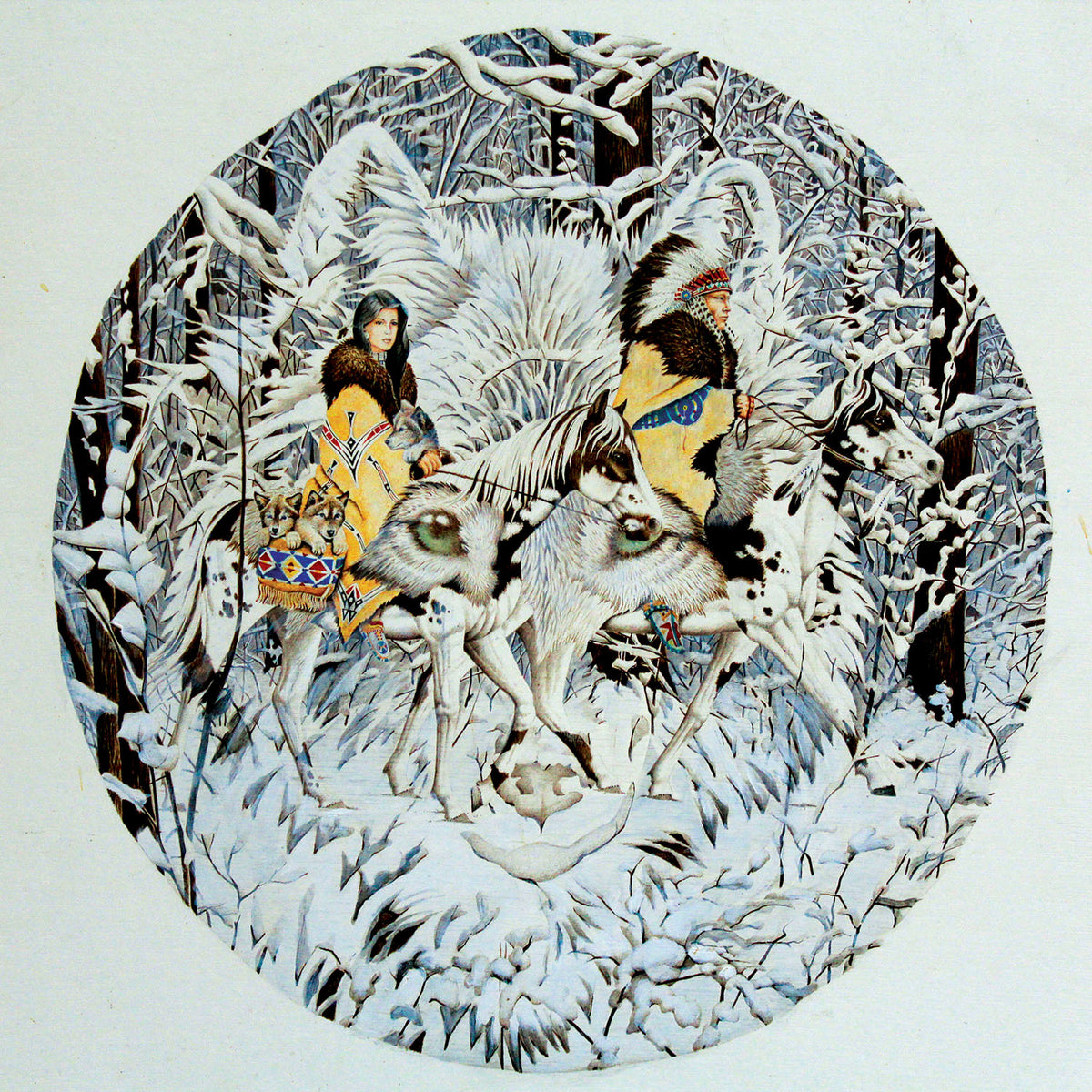 Keeper of the Wolf 1000 Piece Puzzle - Puzzlicious.com