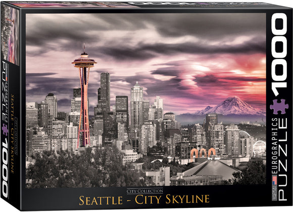 Seattle City Skyline 1000 Piece Puzzle - Quick Ship - Puzzlicious.com
