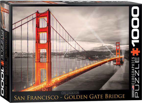 San Francisco Golden Gate Bridge 1000 Piece Puzzle - Quick Ship - Puzzlicious.com