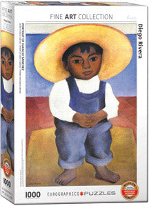 Diego Rivera's Portrait of Ignacio Sanchez 1000 Piece Puzzle - Quick Ship - Puzzlicious.com