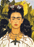 Frida Kahlo Self-Portrait with Thorn Necklace and Hummingbird 1000 Piece Puzzle - Quick Ship