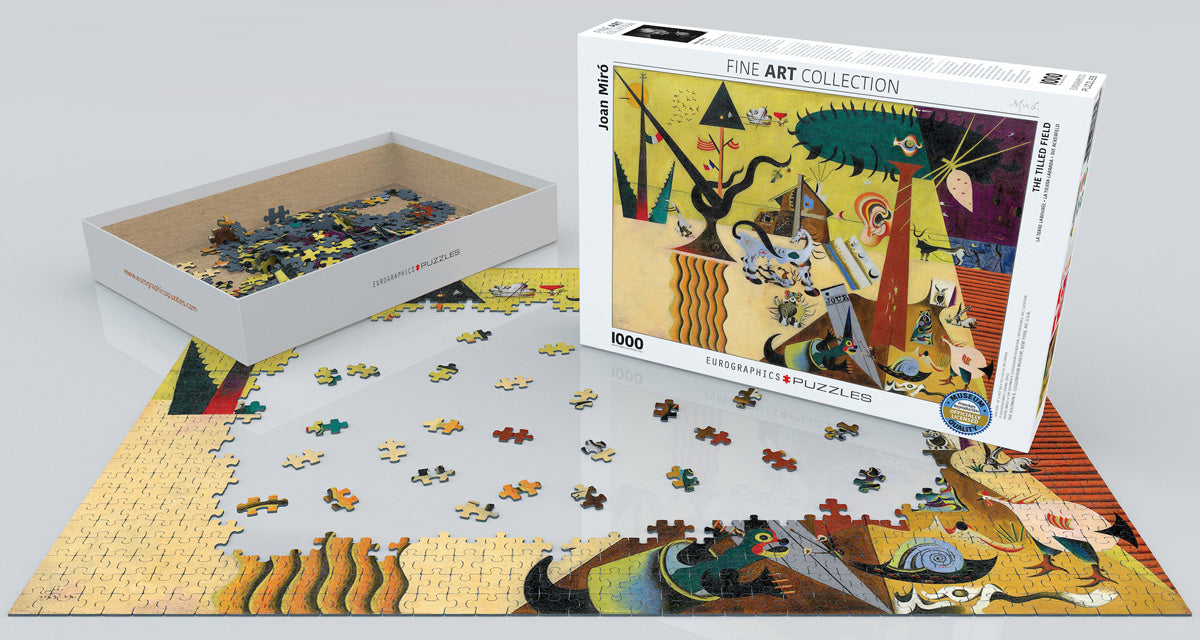 Miro's The Tilled Field 1000 Piece Puzzle - Puzzlicious.com