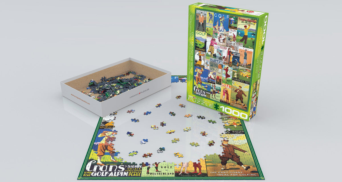 Golf Around the World 1000 Piece Puzzle - Quick Ship - Puzzlicious.com