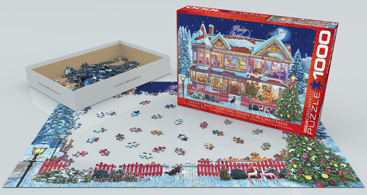 Getting Ready for Christmas 1000 Piece Puzzle - Puzzlicious.com