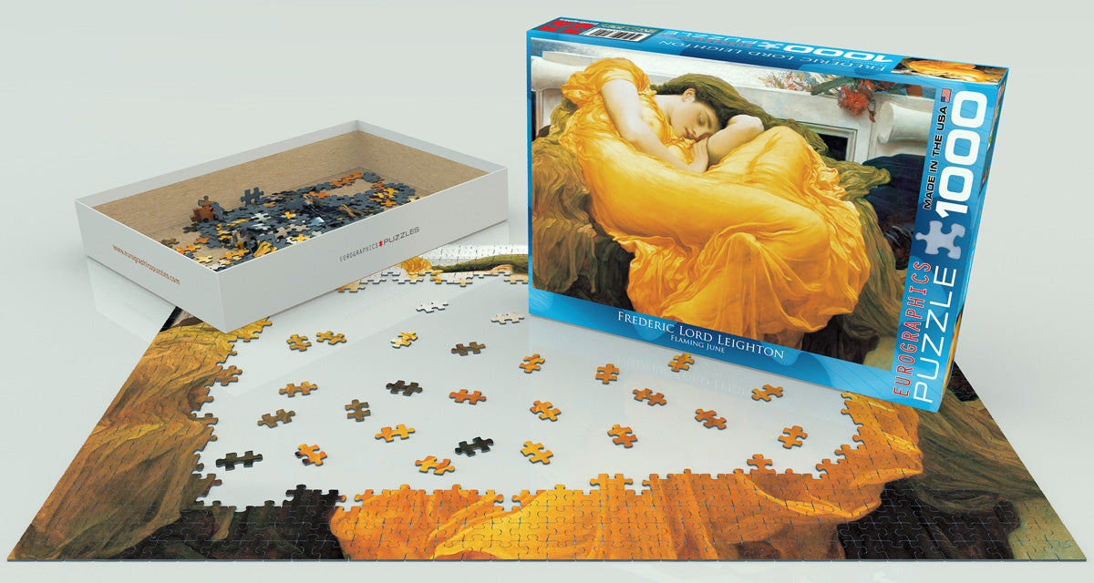 Frederick Leighton's Flaming June 1000 Piece Puzzle - Quick Ship - Puzzlicious.com