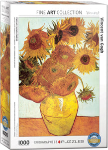 Van Gogh's Twelve Sunflowers 1000 Piece Puzzle - Quick Ship - Puzzlicious.com