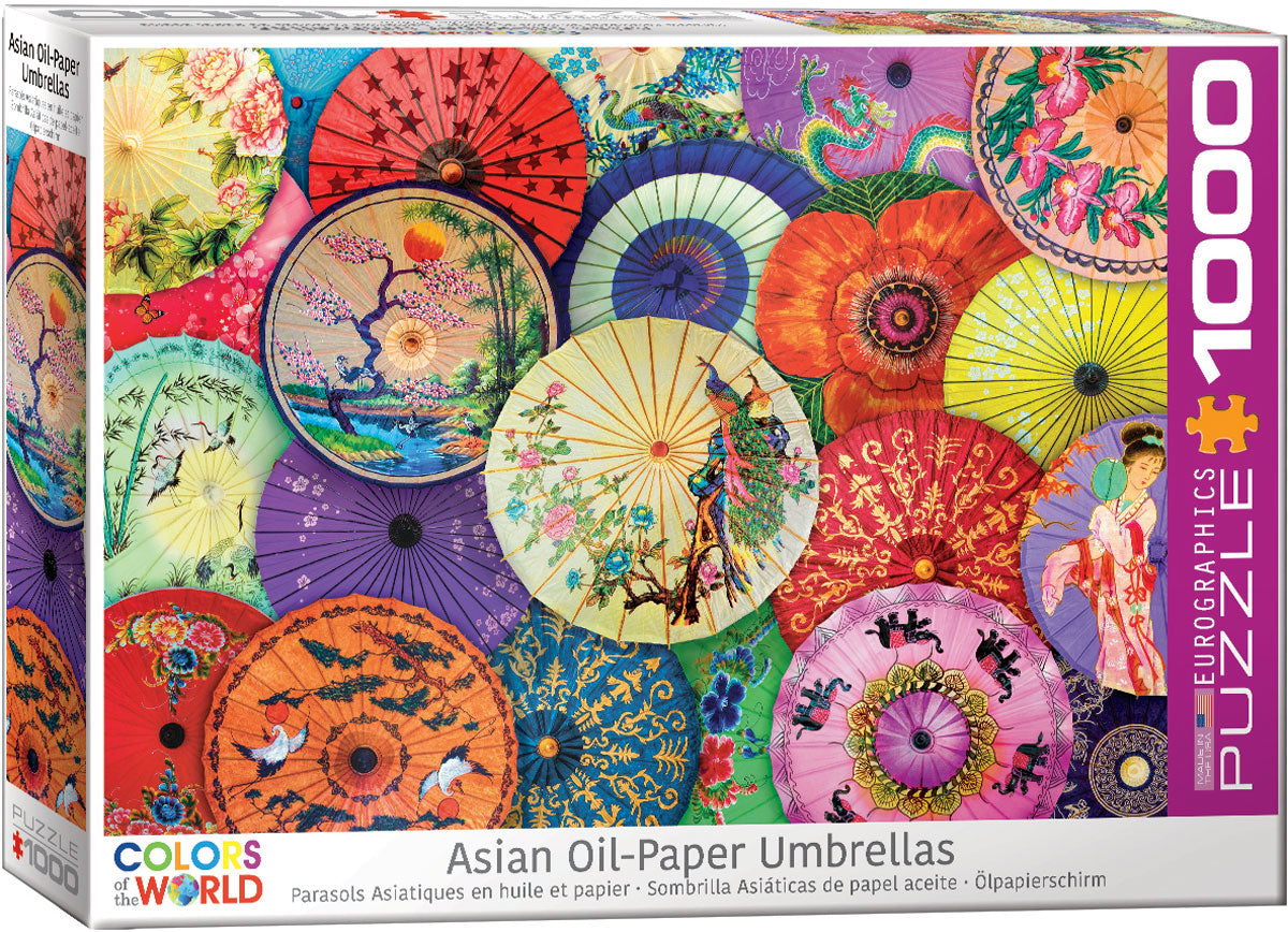 Asian Oil-Paper Umbrellas 1000 Piece Puzzle - Quick Ship - Puzzlicious.com