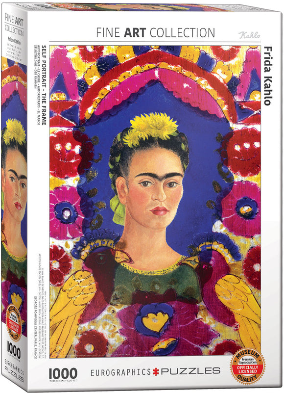 Frida Kahlo Self-Portrait - The Frame 1000 Piece Puzzle - Quick Ship - Puzzlicious.com