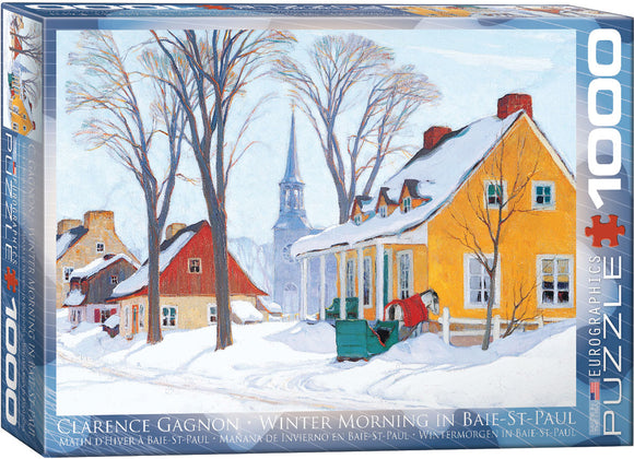 Winter Morning in Baie-St. Paul 1000 Piece Puzzle - Quick Ship