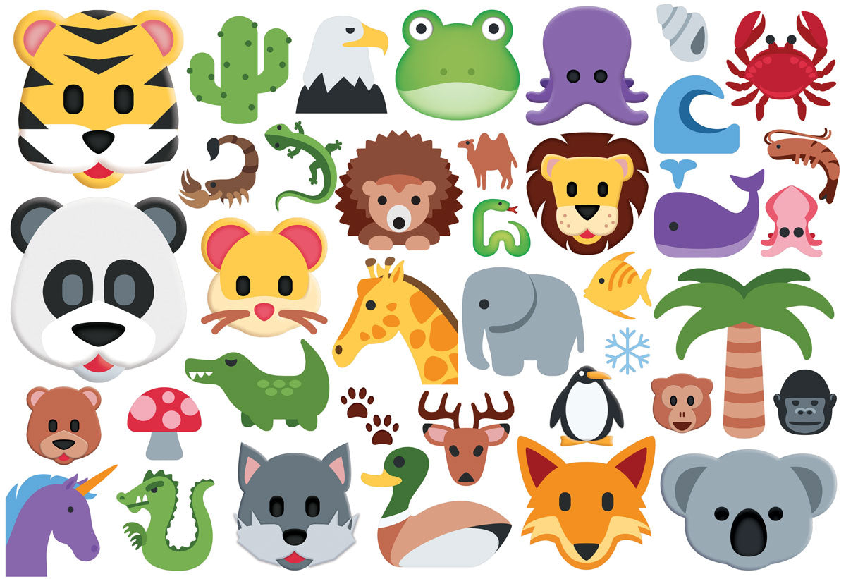 Emojipuzzle Wild Animals 100 Piece Puzzle - Quick Ship - Puzzlicious.com