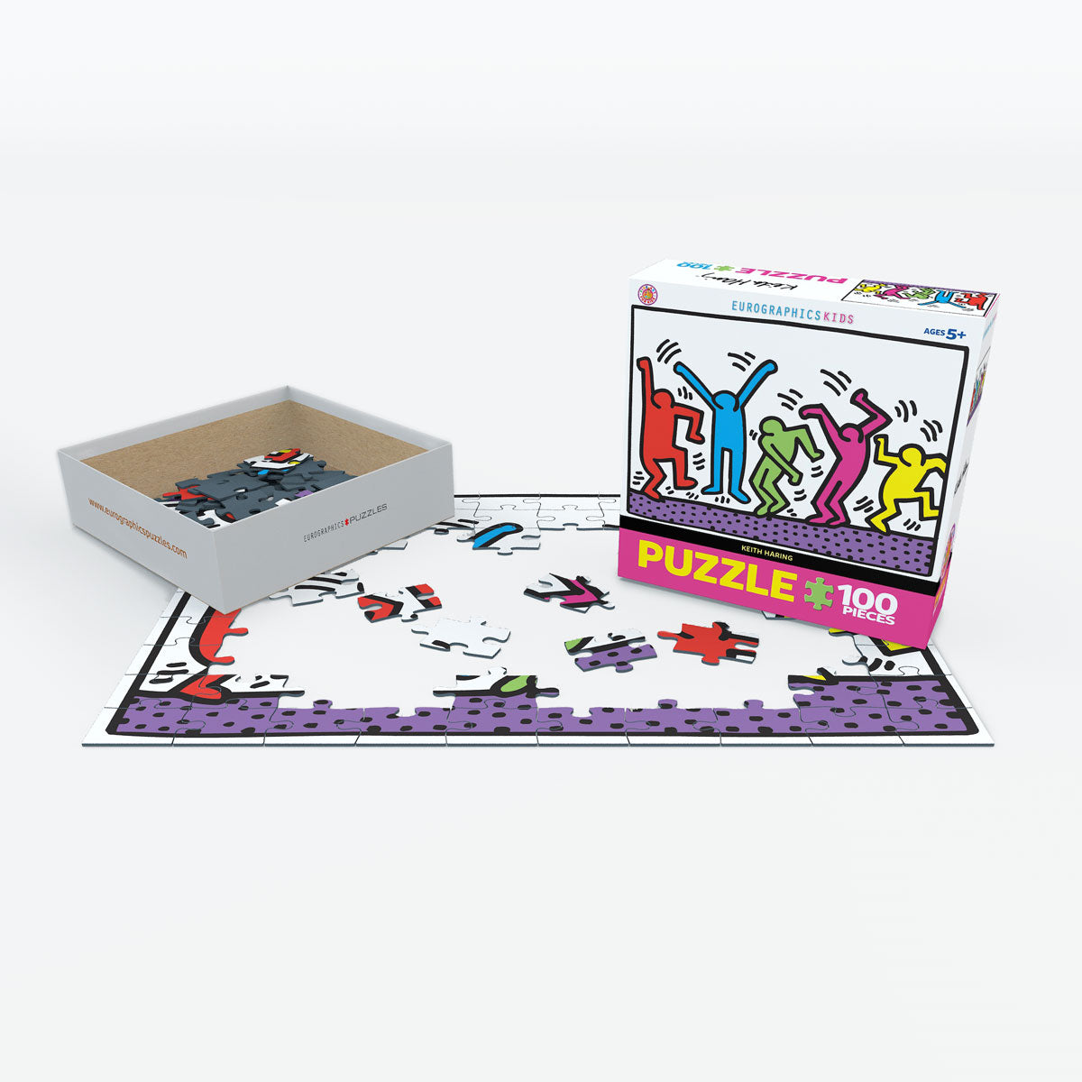 Keith Haring Dancing 100 Piece Puzzle - Quick Ship - Puzzlicious.com