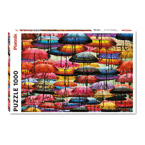 Colorful Umbrellas 1000 Piece Puzzle - Quick Ship - Puzzlicious.com