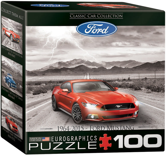 2015 Ford Mustang GT Fifty Years of Power 100 Piece Mini Puzzle - Quick Ship - Puzzlicious.com