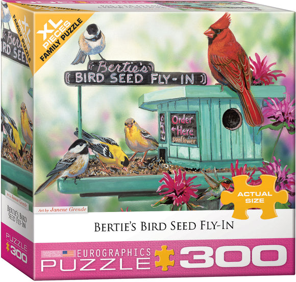 Bertie's Bird Seed Fly-In 300 Piece Puzzle - Quick Ship - Puzzlicious.com