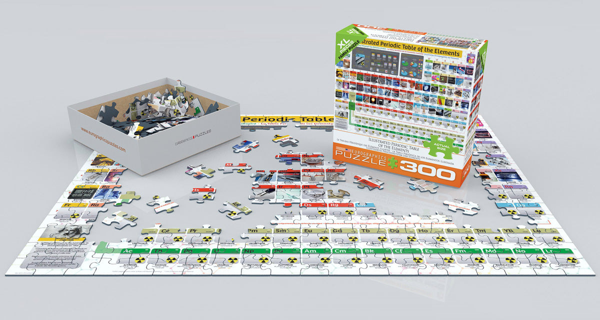 Illustrated Periodic Table of the Elements 300 Piece Puzzle with XL Pieces - Quick Ship - Puzzlicious.com