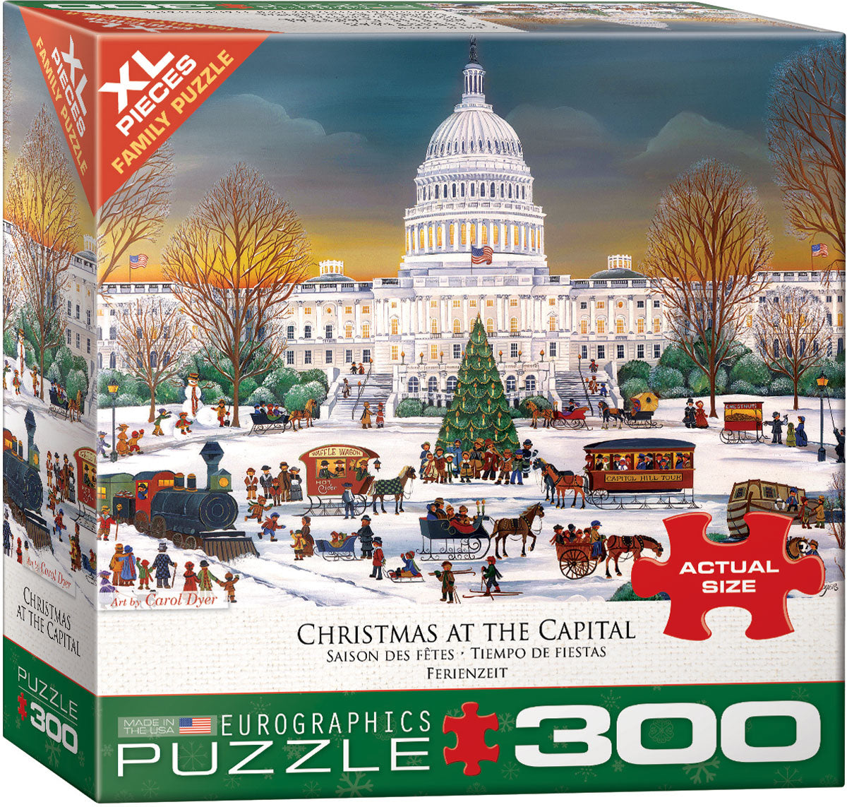 Christmas at the Capitol 300 Piece Puzzle - Quick Ship - Puzzlicious.com