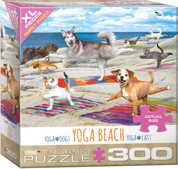 Funny Dogs and cats doing Yoga NEW Eurographics Puzzle Yoga Spa  500 pieces