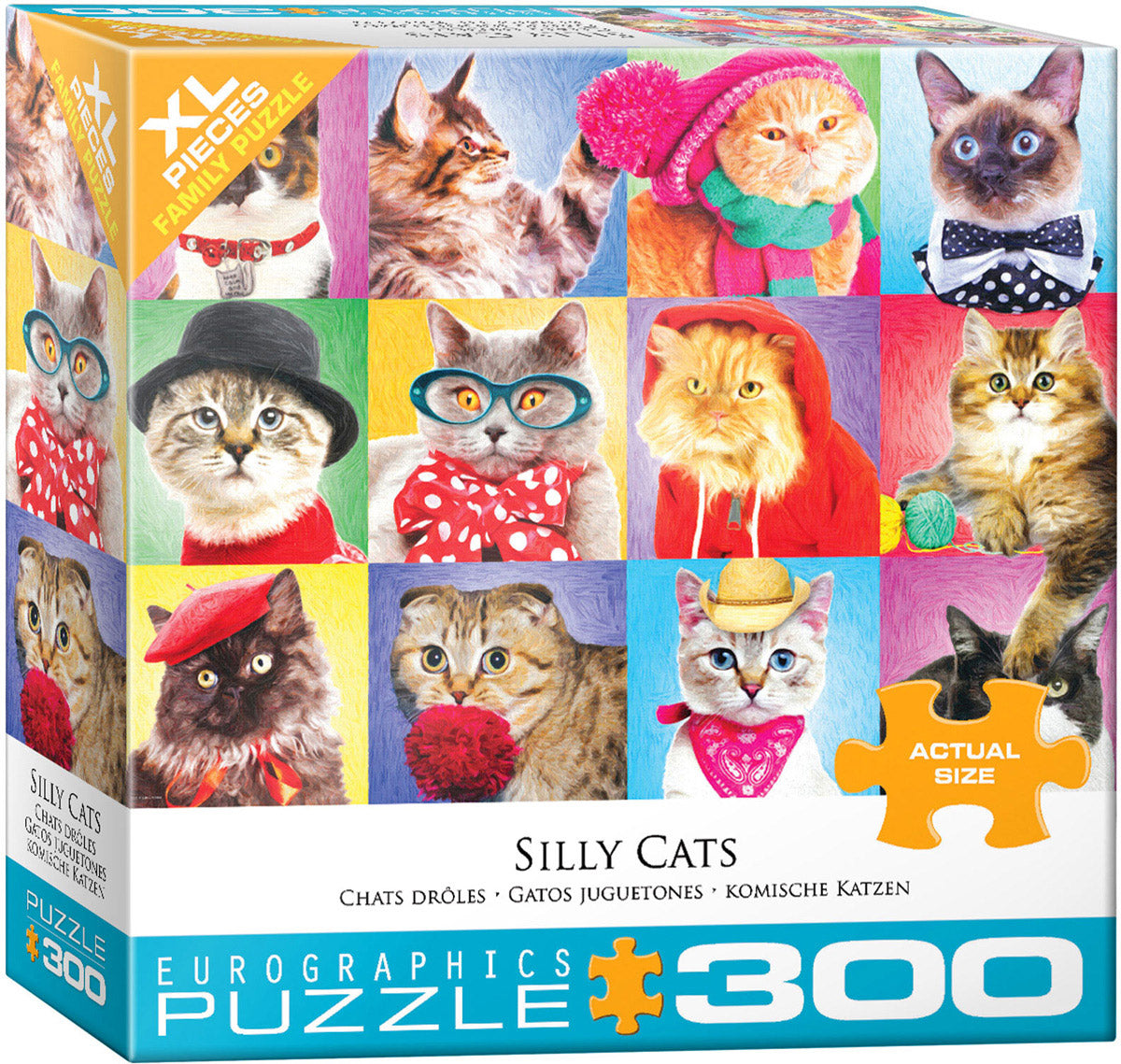 Silly Cats 300 Piece Puzzle - Quick Ship - Puzzlicious.com