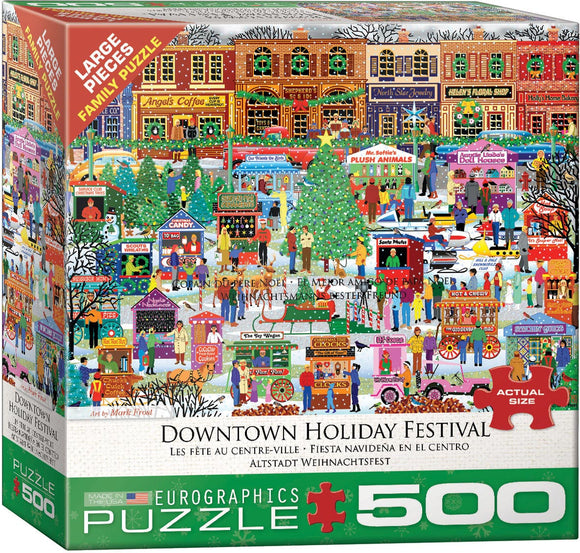 Downtown Holiday Festival 500 Piece Puzzle - Quick Ship - Puzzlicious.com