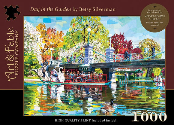 Day in the Garden 1000 Piece Puzzle - Quick Ship - Puzzlicious.com