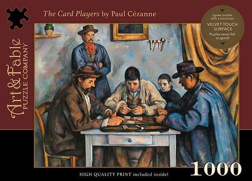The Card Players 1000 Piece Puzzle - Quick Ship - Puzzlicious.com