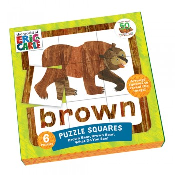 The World of Eric Carle(TM) Brown Bear, Brown Bear, What Do You See? Puzzle Squares - Quick Ship - Puzzlicious.com