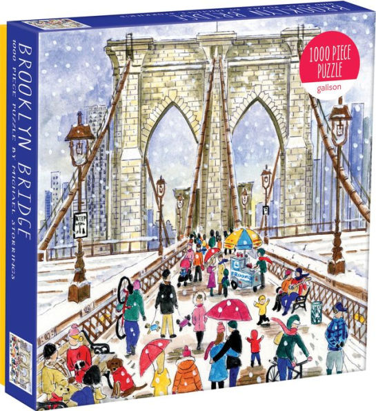 Michael Storrings Brooklyn Bridge 1000 Piece Puzzle - Quick Ship - Puzzlicious.com