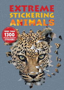 Extreme Animals Sticker Art Puzzle Book - Quick Ship - Puzzlicious.com