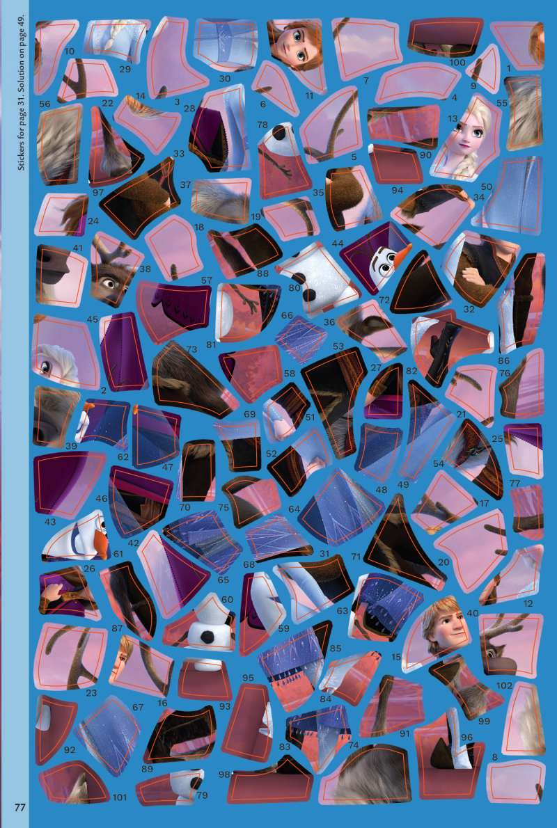 Disney Frozen II Sticker Art Puzzle Book -Quick Ship - Puzzlicious.com