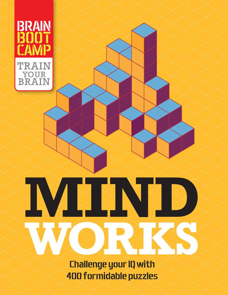 Mind Works - Train Your Brain Puzzles Book -  Quick Ship - Puzzlicious.com