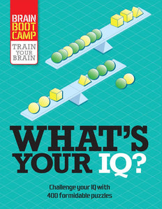 What's Your IQ? - Train Your Brain Puzzles Book - Quick Ship - Puzzlicious.com