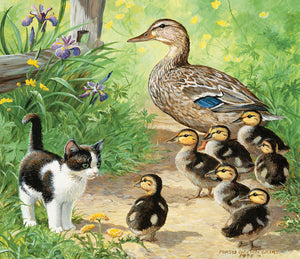 Ducks and Friend 25 Piece Puzzle - Puzzlicious.com