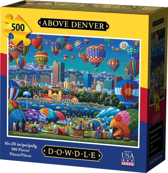 Above Denver 500 Piece Puzzle - Quick Ship - Puzzlicious.com