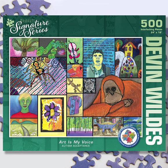 Art Is My Voice 500 Piece Puzzle - Autistic Expressions - Quick Ship - Puzzlicious.com