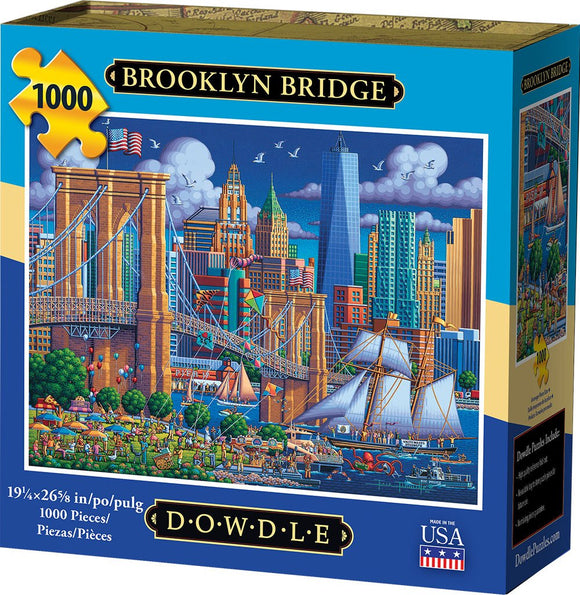 Brooklyn Bridge 1000 Piece Puzzle - Quick Ship - Puzzlicious.com