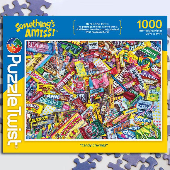 Candy Cravings 1000 Piece Puzzle Twist Jigsaw Puzzle - Quick Ship - Puzzlicious.com
