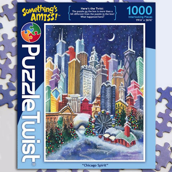 Chicago Spirit 1000 Piece Puzzle Twist Jigsaw Puzzle - Quick Ship - Puzzlicious.com