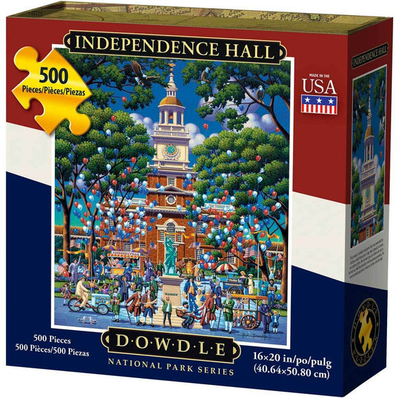 Independence Hall 500 Piece Puzzle - Quick Ship - Puzzlicious.com