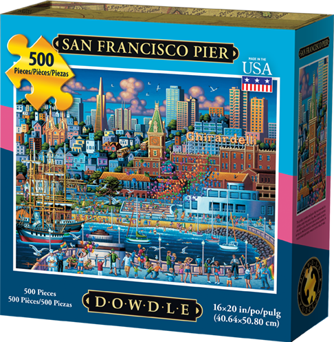 San Francisco Pier 500 Piece Puzzle - Quick Ship - Puzzlicious.com