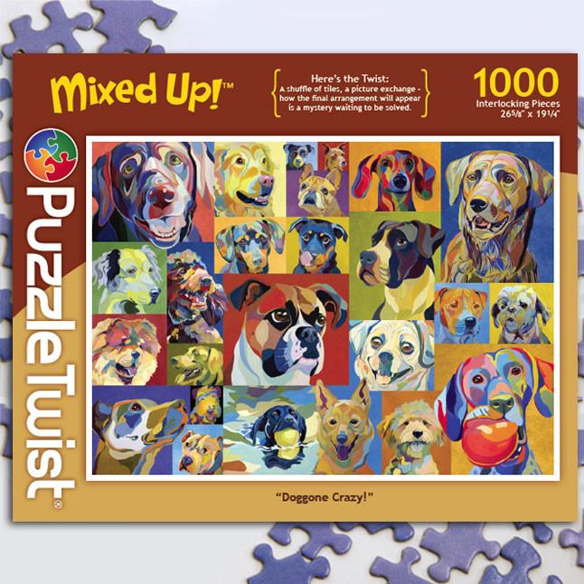 Doggone Crazy 1000 Piece Puzzle Twist Jigsaw Puzzle - Quick Ship - Puzzlicious.com